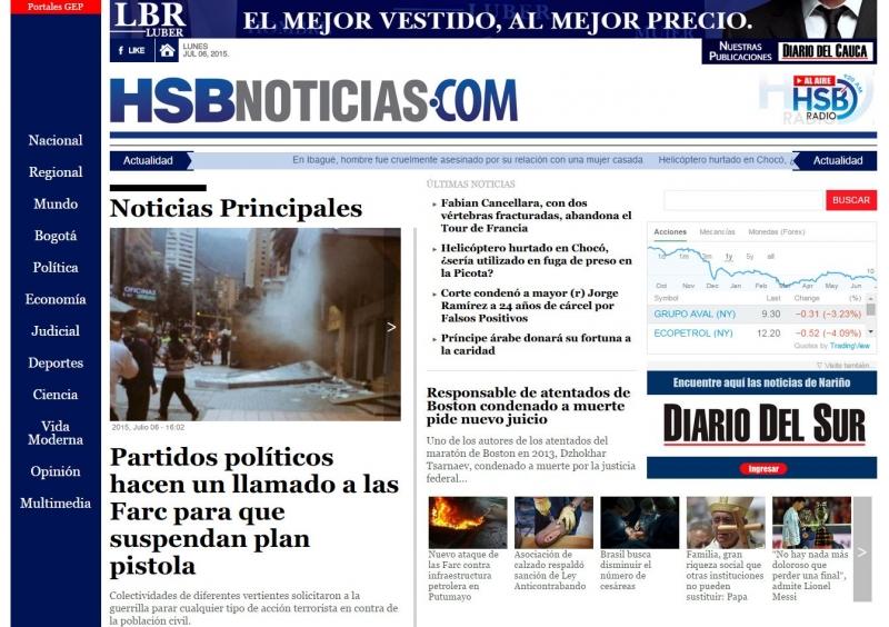 """HSB Noticias"" News Site"